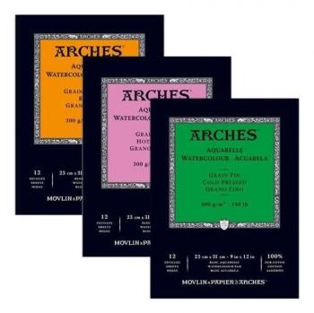 ARCHES BLOC ACUARELA 12 HOJAS 300GR