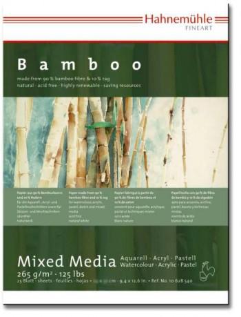 HAHNEMÜHLE BAMBOO BLOC DE TÉCNICAS MIXTAS 25 HOJAS 265 g/m  BLANCO NATURAL