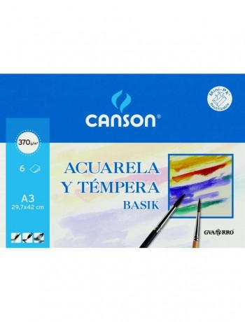 CANSON MINI-PACK HOJAS PAPEL ACUARELA BASIK A3
