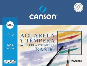CANSON MINI-PACK HOJAS PAPEL ACUARELA A4+