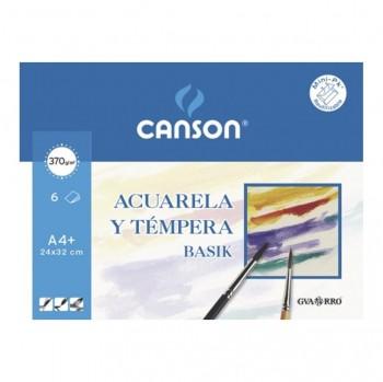 CANSON MINI-PACK HOJAS PAPEL ACUARELA Y TEMPERA 370GR