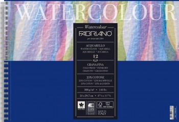 FABRIANO BLOC ACUARELA 12 HOJAS GRANO FINO 300 GR/M2