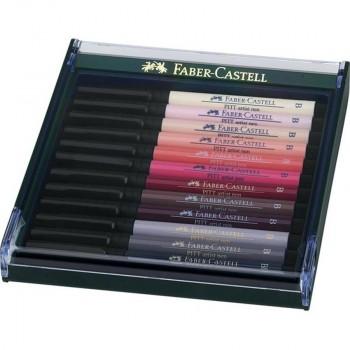 FABER-CASTELL ESTUCHE DE 12 ROTULADORES PITT ARTIST PEN
