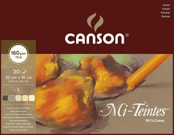 CANSON BLOC MI-TEINTES 60 % ABEJA 30 HOJAS 160G/M2