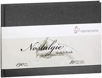HAHNEMÜHLE NOSTALGIE SKETCH BOOK A5 APAISADO, 190 g/m , 90 lbs: 80 HOJAS.