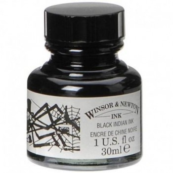 WINSOR & NEWTON TINTA NEGRA PARA DIBUJO 30 ML