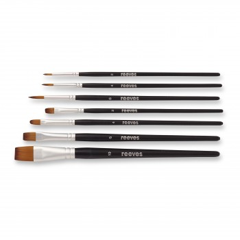 REEVES WATERCOLOUR SYNTHETIC BRUSH X7 SET