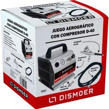 DISMOER JUEGO AEROGRAFICO COMPRESOR D40