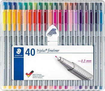 STAEDTLER ROTULADOR FINELINER TRIPLUS 0,3MM SET 40 UDS