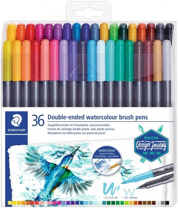 STAEDTLER ROTULADOR MARSGRAPHIC DUO SET 36 / 18 UDS  DOBLE PUNTA ACUARELABLES
