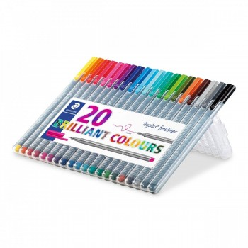 STAEDTLER ROTULADOR FINELINER TRIPLUS 0,3MM SET 20 UDS
