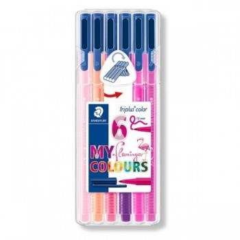 STAEDTLER ROTULADOR TRIPLUS COLOR 1 MM SET 6 UDS