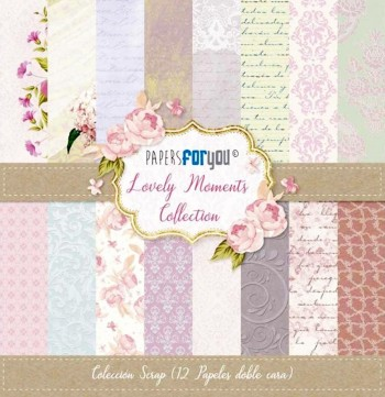 PAPERS FOR YOU COLECCIÓN 12 PAPELES SCRAPBOOKING LOVELY MOMENTS