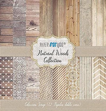 PAPERS FOR YOU COLECCIÓN 12 PAPELES SCRAPBOOKING NATURAL WOODS