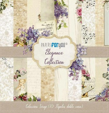 PAPERS FOR YOU COLECCIÓN 12 PAPELES SCRAPBOOKING ELEGANCE