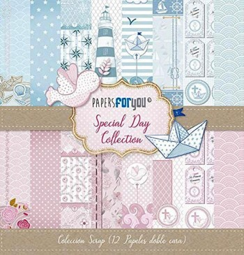 PAPERS FOR YOU COLECCIÓN 12 PAPELES SCRAPBOOKING SPECIAL DAY