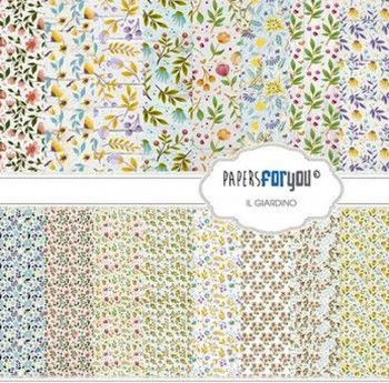 PAPERS FOR YOU COLECCIÓN 12 PAPELES SCRAPBOOKING IL GIARDINO
