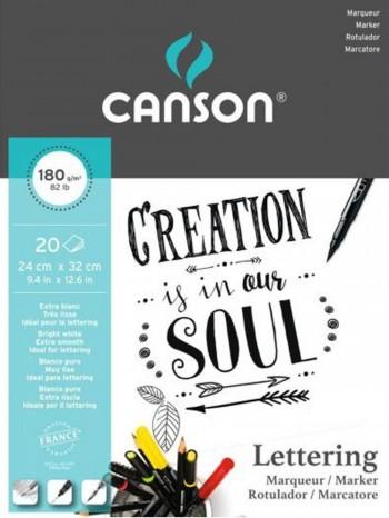 CANSON BLOC LETTERING 180G 20 HOJAS 24X32 CM
