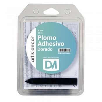 ARTIS DECOR PLOMO ADHESIVO SIMPLE 6MMX10M DORADO