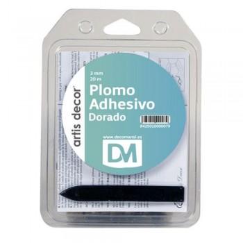 ARTIS DECOR PLOMO ADHESIVO DOBLE 3MMX20M DORADO
