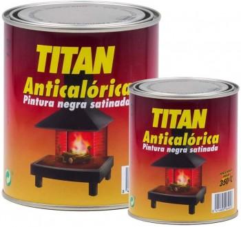 TITAN PINTURA ANTICALÓRICA NEGRA SATINADA