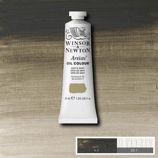 WN OLEO ARTISTS OIL COLOUR 37ML GRIS DE DAVY