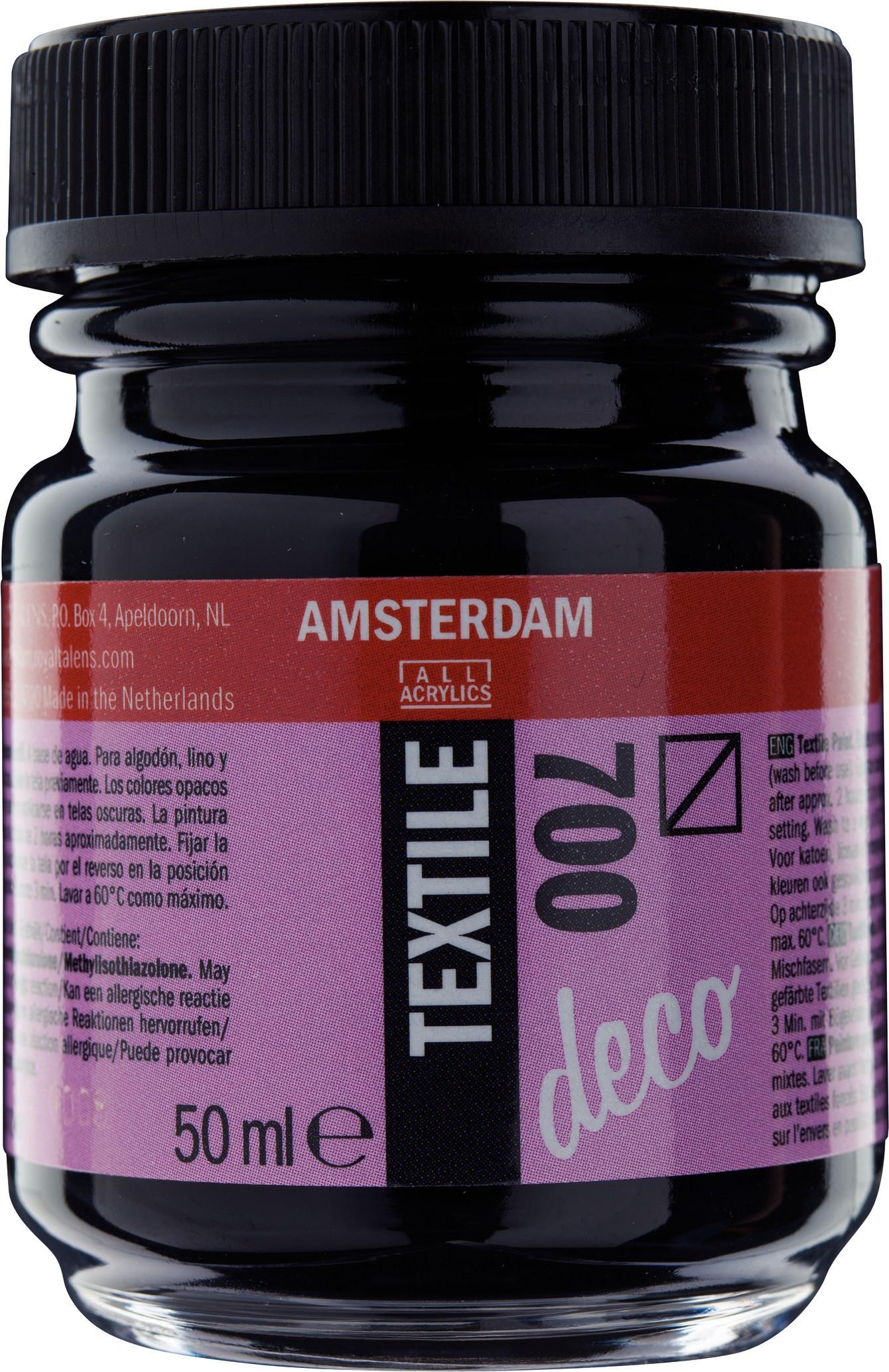 AMSTERDAM TEXTILE DECO 50ML NEGRO 700