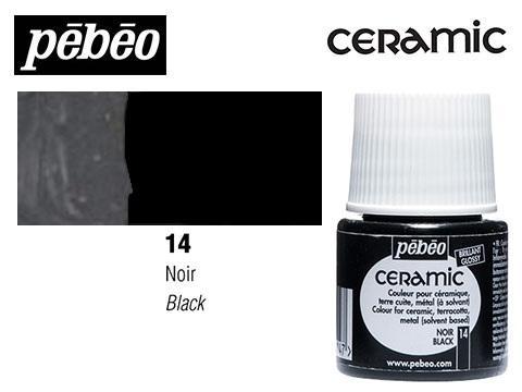PEBEO CERAMIC 45 ML N. 14 NEGRO