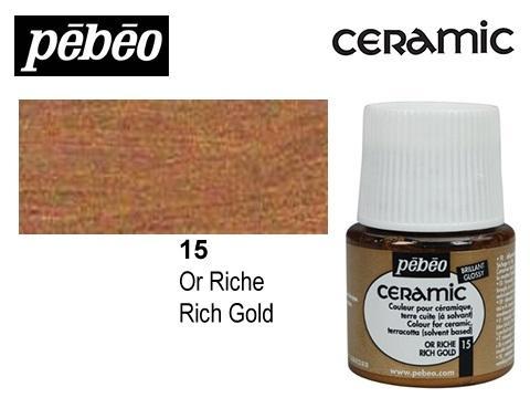 PEBEO CERAMIC 45 ML N. 15 ORO RICO