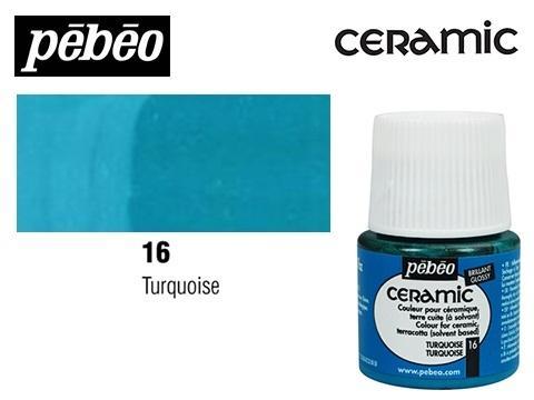 PEBEO CERAMIC 45 ML N. 16 TURQUESA