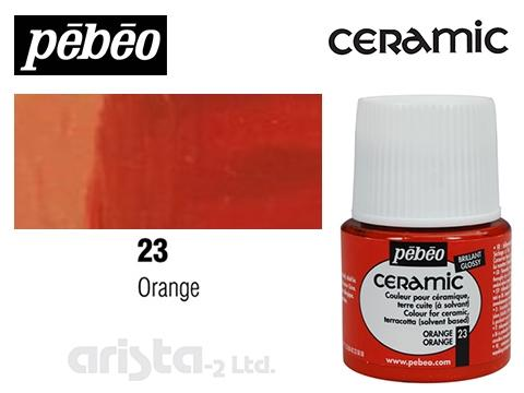 PEBEO CERAMIC 45 ML N. 23 NARANJA