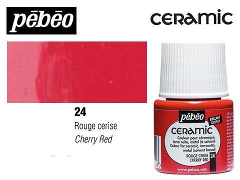 PEBEO CERAMIC 45 ML N. 24 ROJO CEREZA