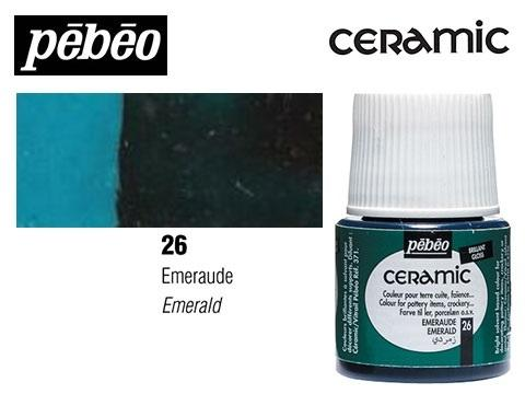 PEBEO CERAMIC 45 ML N. 26 ESMERALDA
