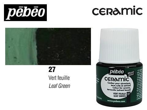 PEBEO CERAMIC 45 ML N. 27 VERDE HOJA