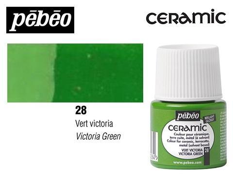 PEBEO CERAMIC 45 ML N. 28 VERDE VICTORIA