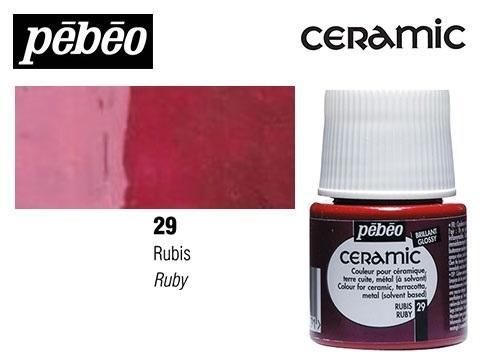 PEBEO CERAMIC 45 ML N. 39 RUBÍ