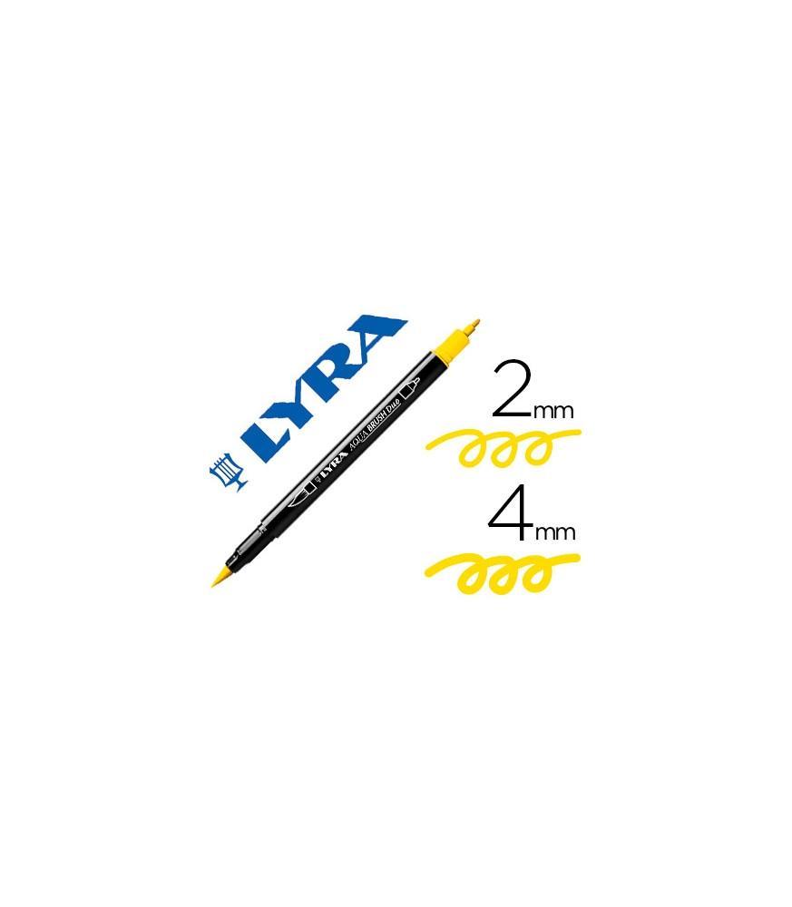 Rotulador Lyra Aqua Brush Duo Amarillo Limón