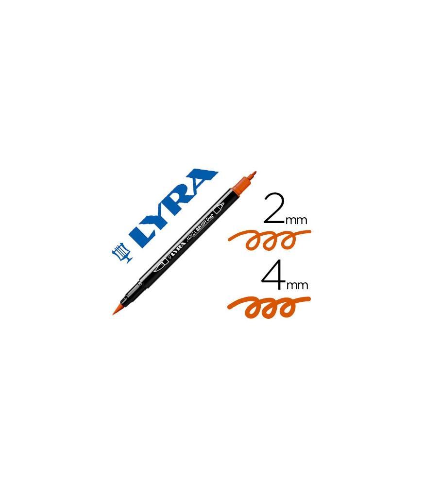 Rotulador Lyra Aqua Brush Duo Naranja Oscuro