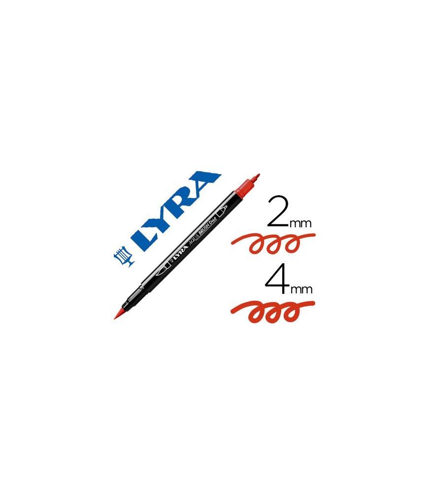 Rotulador Lyra Aqua Brush Duo Rojo Geranio
