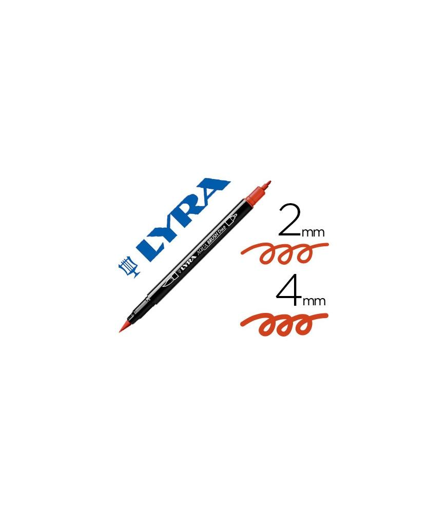 Rotulador Lyra Aqua Brush Duo Carmín Oscuro