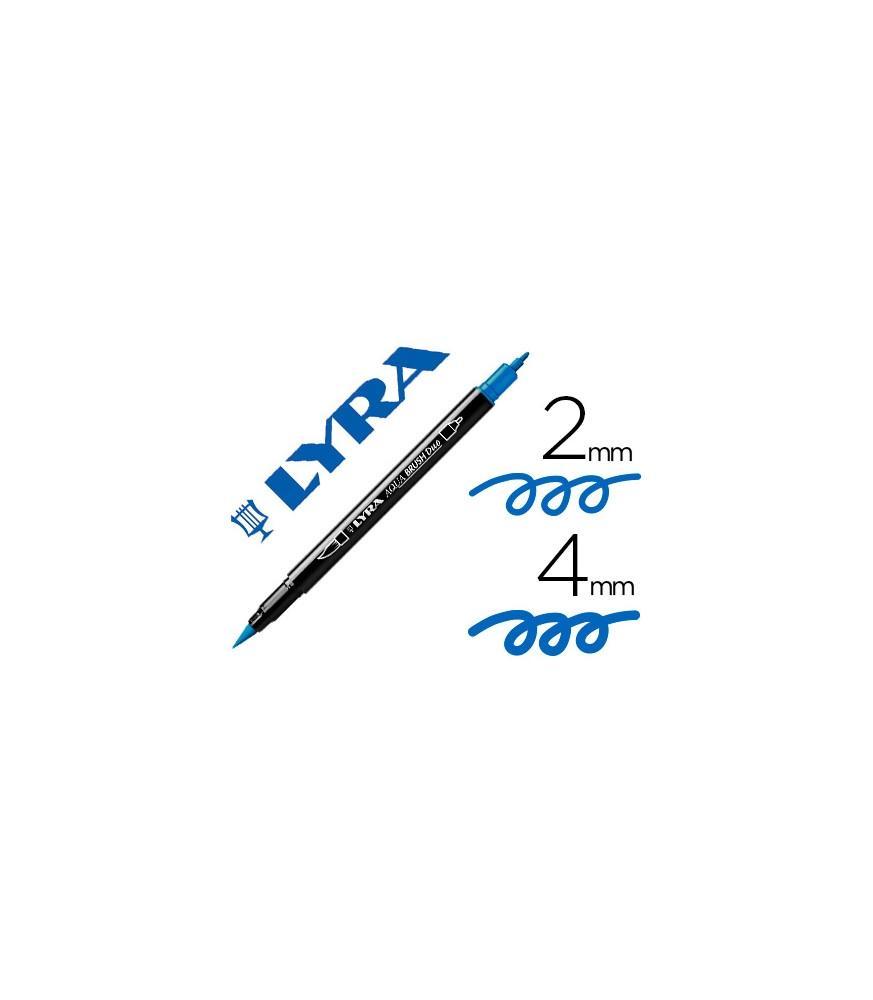 Rotulador Lyra Aqua Brush Duo Azul Cobalto Claro
