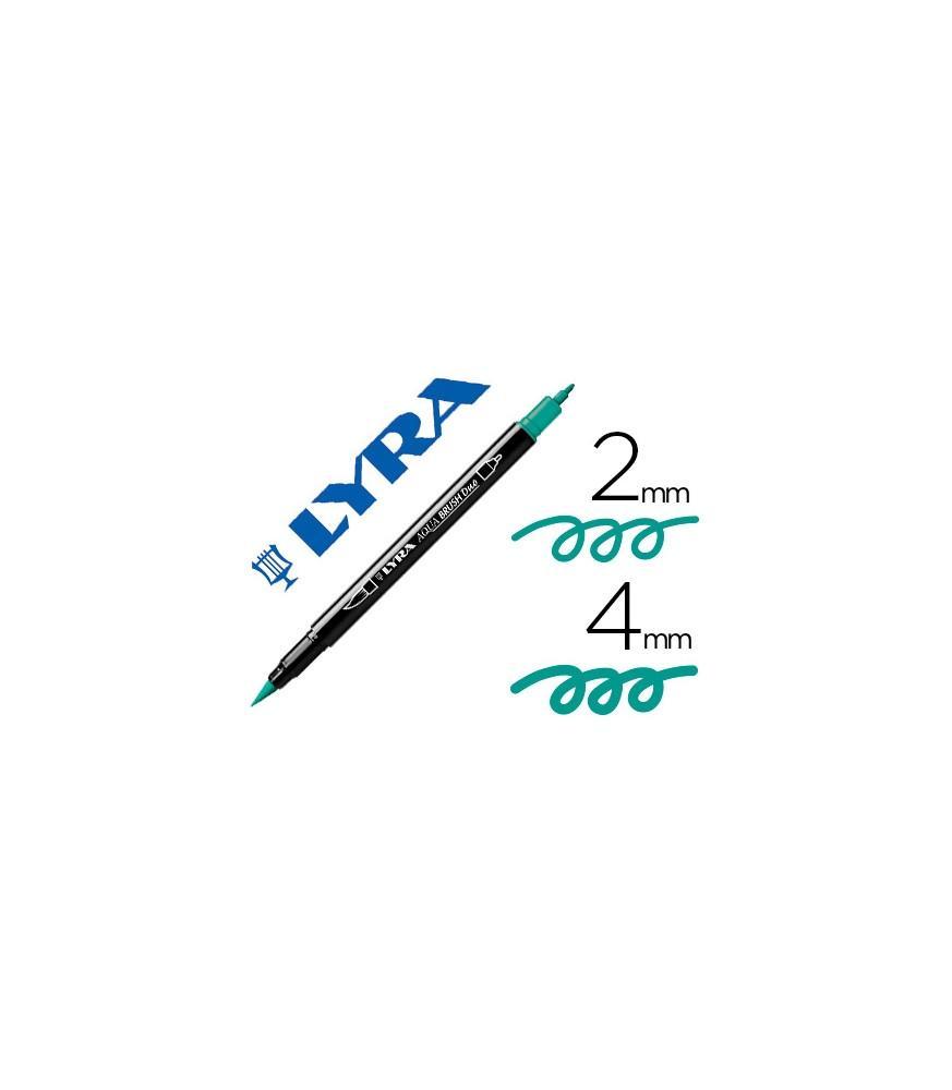Rotulador Lyra Aqua Brush Duo Verde Noche