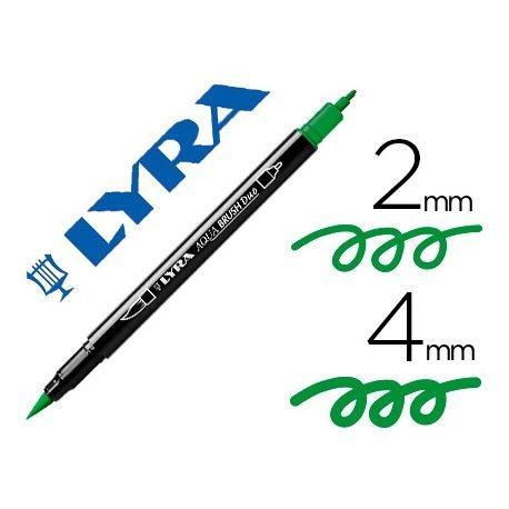 Rotulador Lyra Aqua Brush Duo Verde