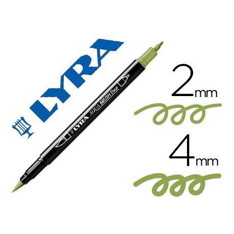 Rotulador Lyra Aqua Brush Duo Verde Musgo