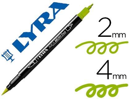 Rotulador Lyra Aqua Brush Duo Verde Manzana