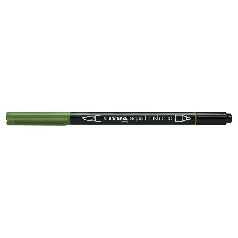 Rotulador Lyra Aqua Brush Duo Verde Oliva