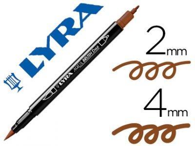 Rotulador Lyra Aqua Brush Duo Marrón Van-Dyck