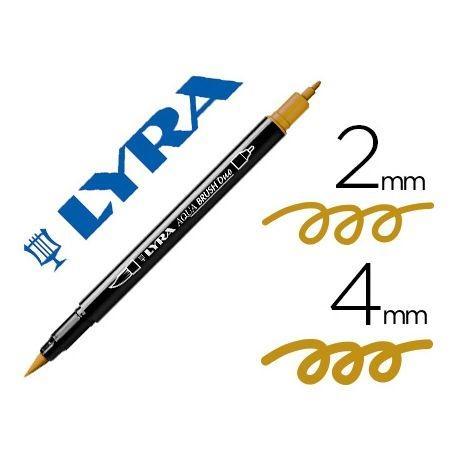 Rotulador Lyra Aqua Brush Duo Ocre Dorado