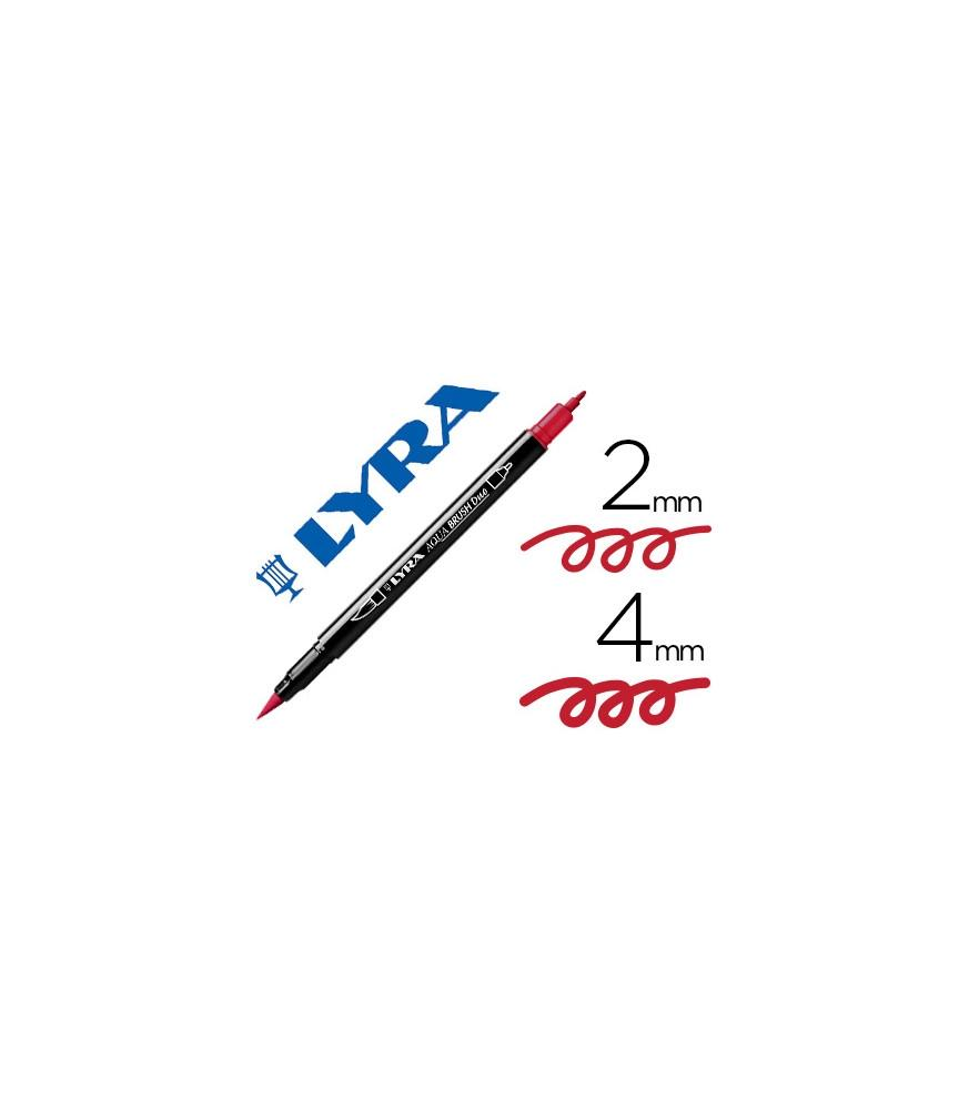 Rotulador Lyra Aqua Brush Duo Rojo Pompeya