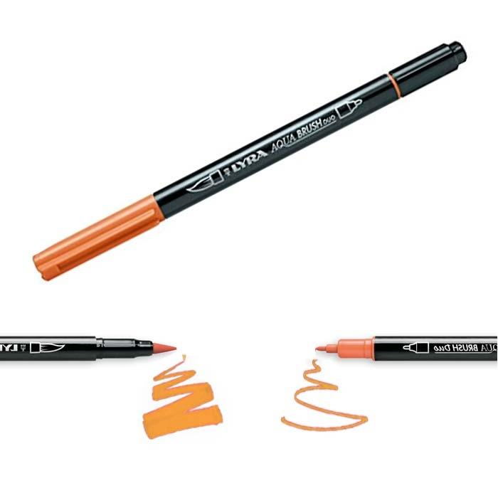 Rotulador Lyra Aqua Brush Duo Naranja claro